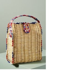 Anthropologie En Shalla Stitch-Trimmed Basket Bag